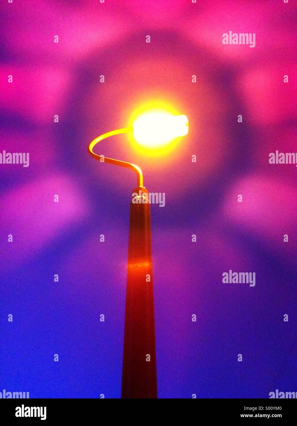 Pink light flare - Stock Image