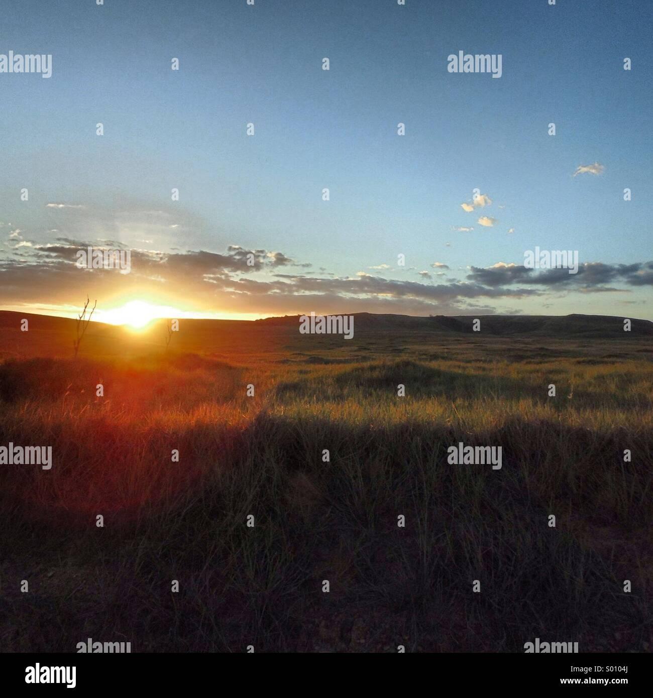 Sundown Gran Sábana. Venezuela - Stock Image