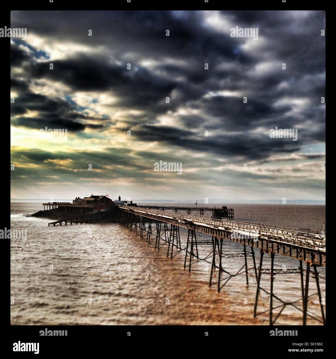 Birnbeck pier Weston super mare - Stock Image