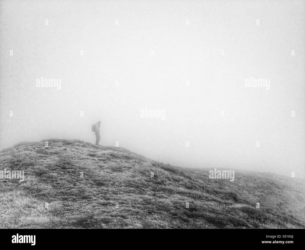 Hiker on Korab trail - Stock Image