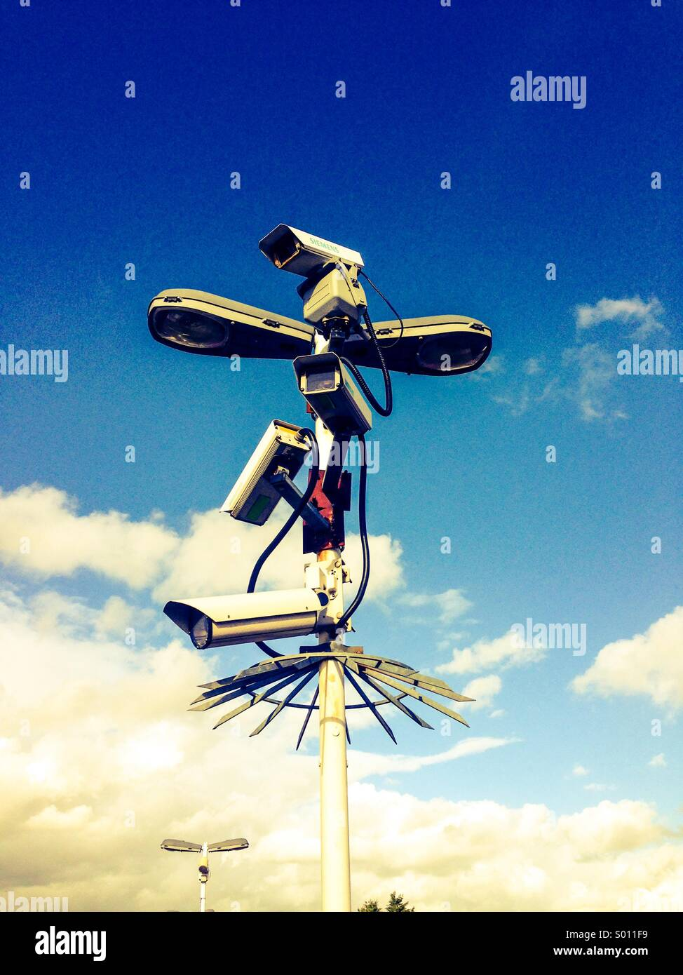 Surveillance cameras - Stock Image