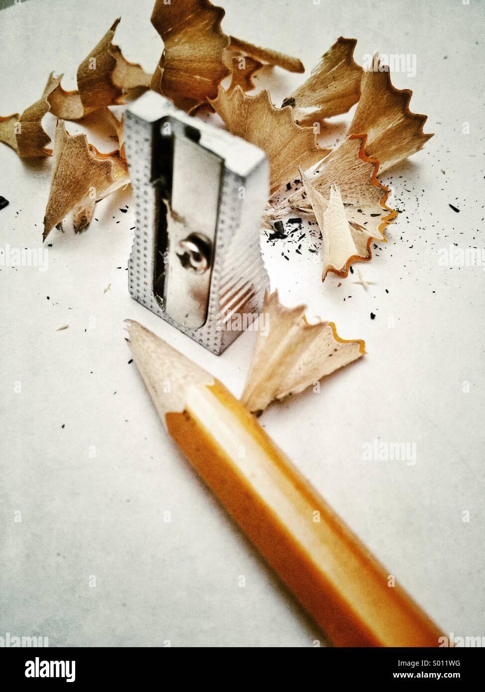 Broken pencil lead - Stock Image