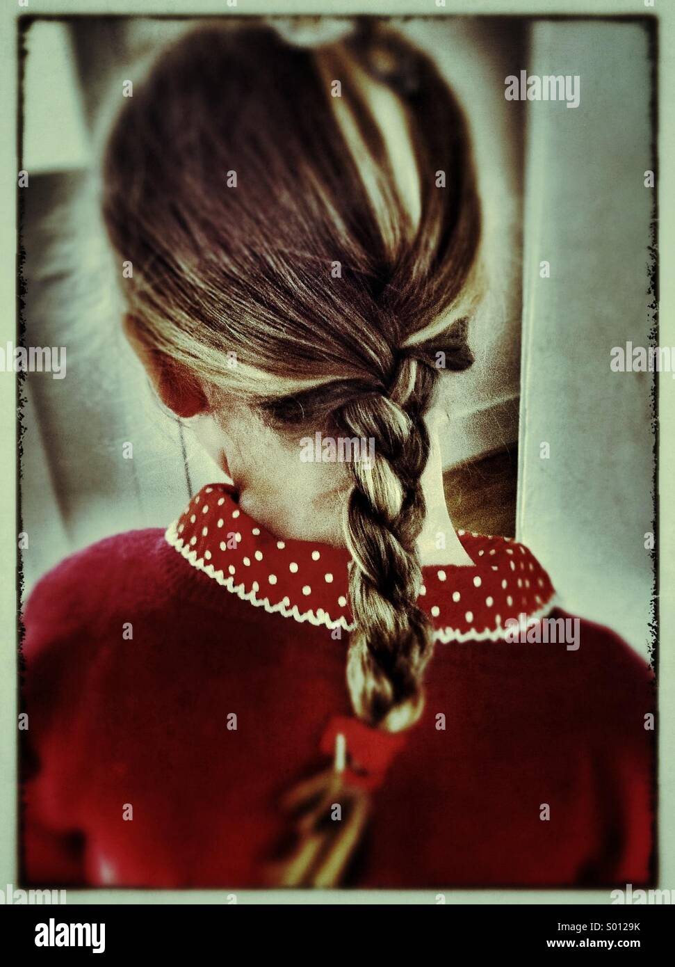 Girls plait - Stock Image