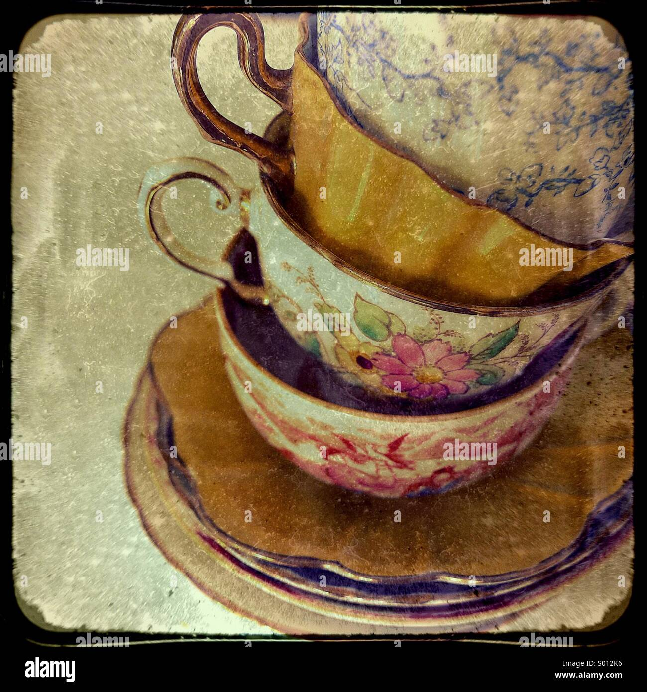 Tea cups - Stock Image