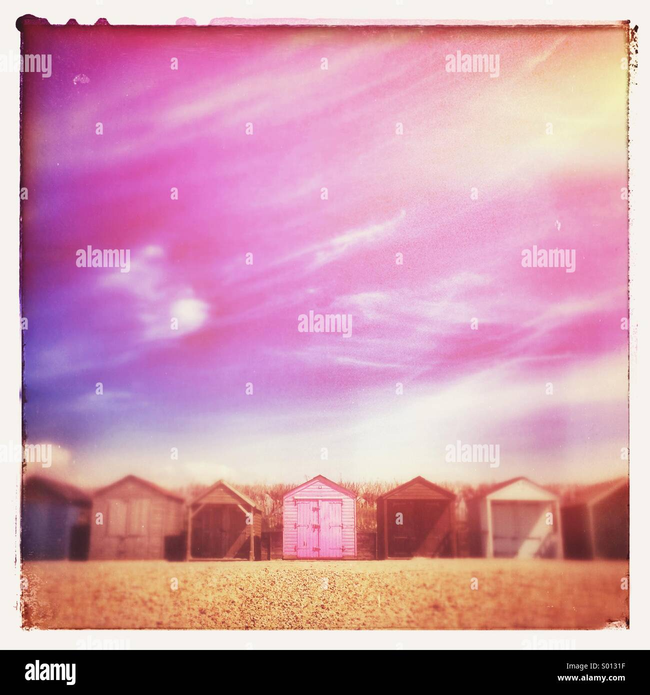 Pink Beach Hut Stock Photos Pink Beach Hut Stock Images Alamy