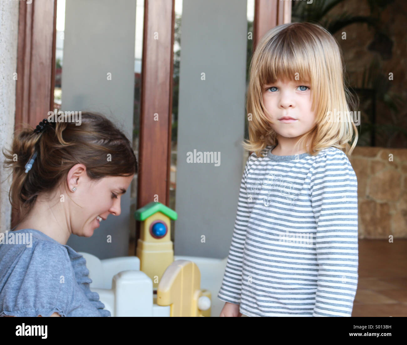 No more photos dad ! - Stock Image