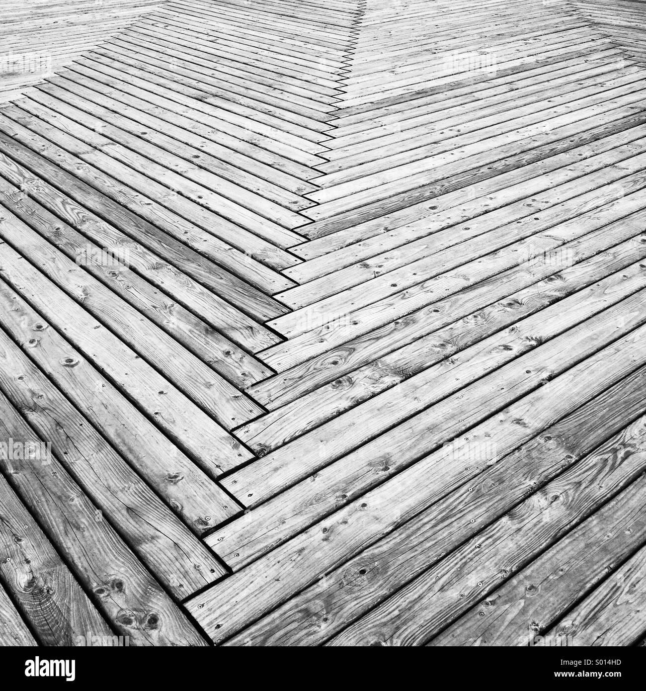 Wooden decking - Stock Image