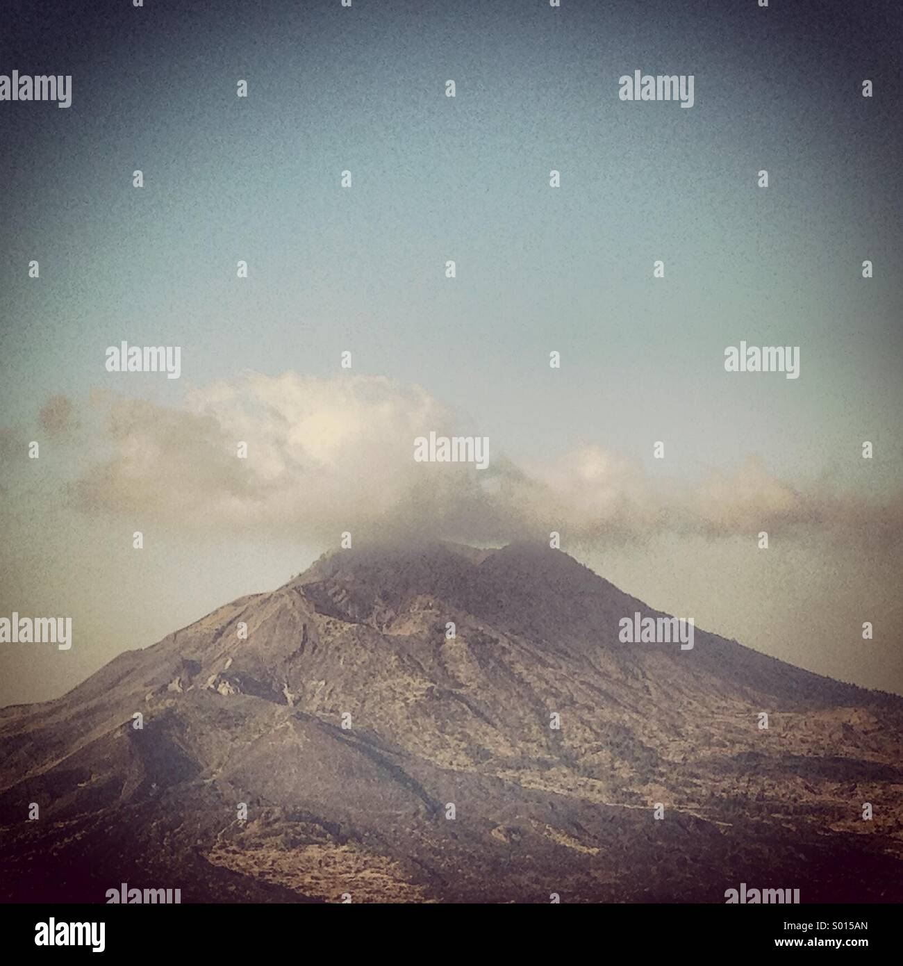 Mount Agung volcano, Bali, Indonesia - Stock Image