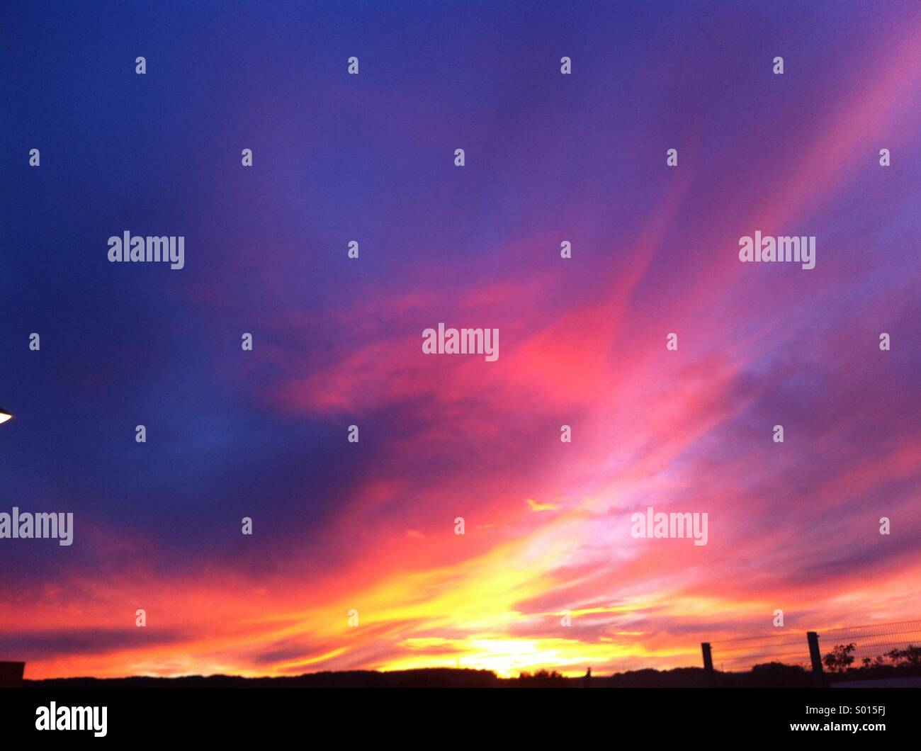 colorfull sunset - Stock Image