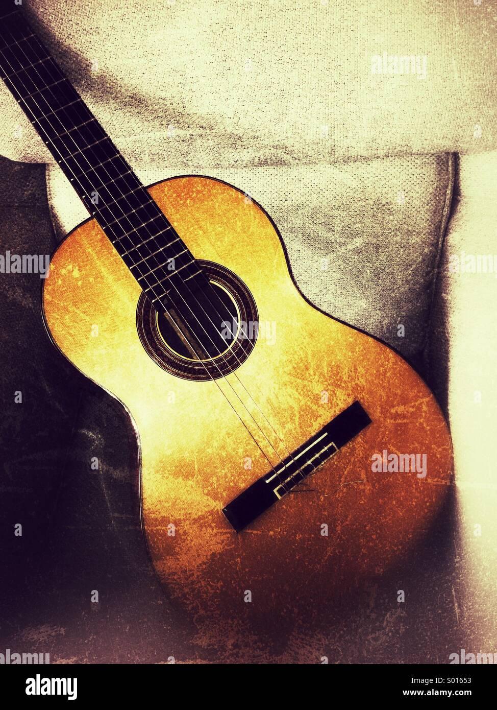 Classical guitar - Stock Image