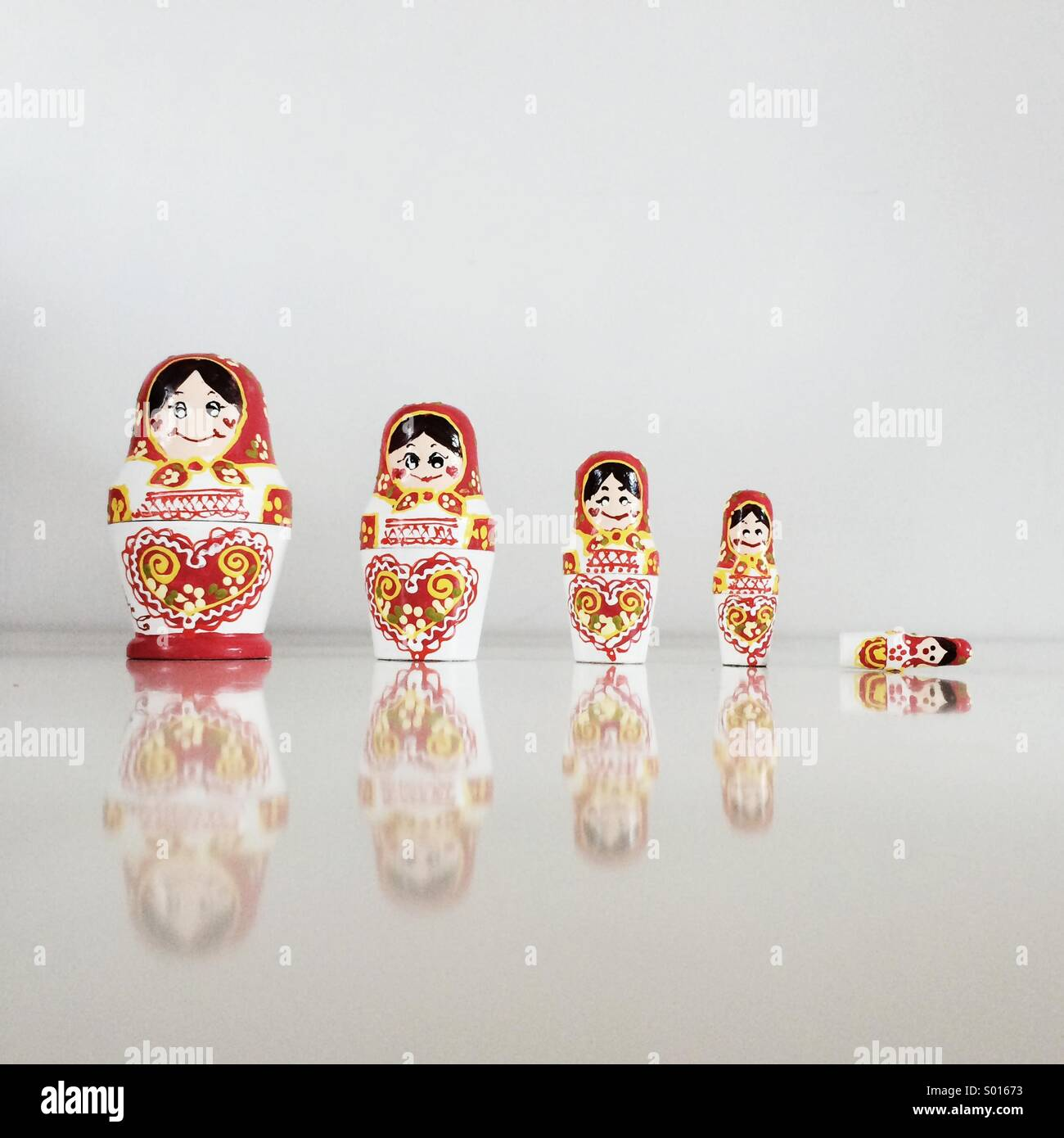 Russian dolls - Stock Image