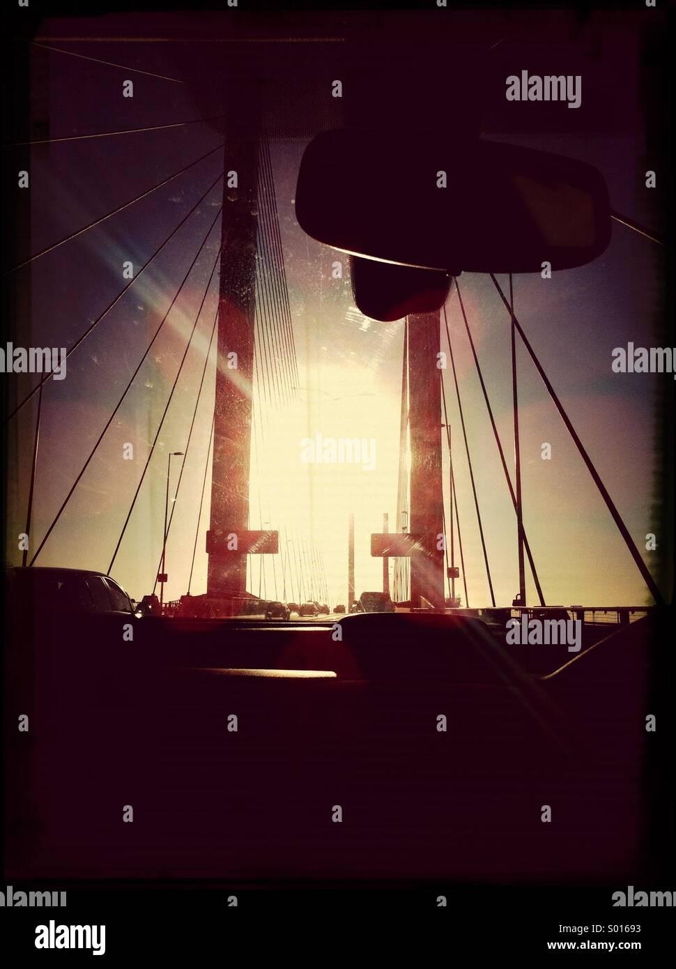QE2 Bridge - Stock Image