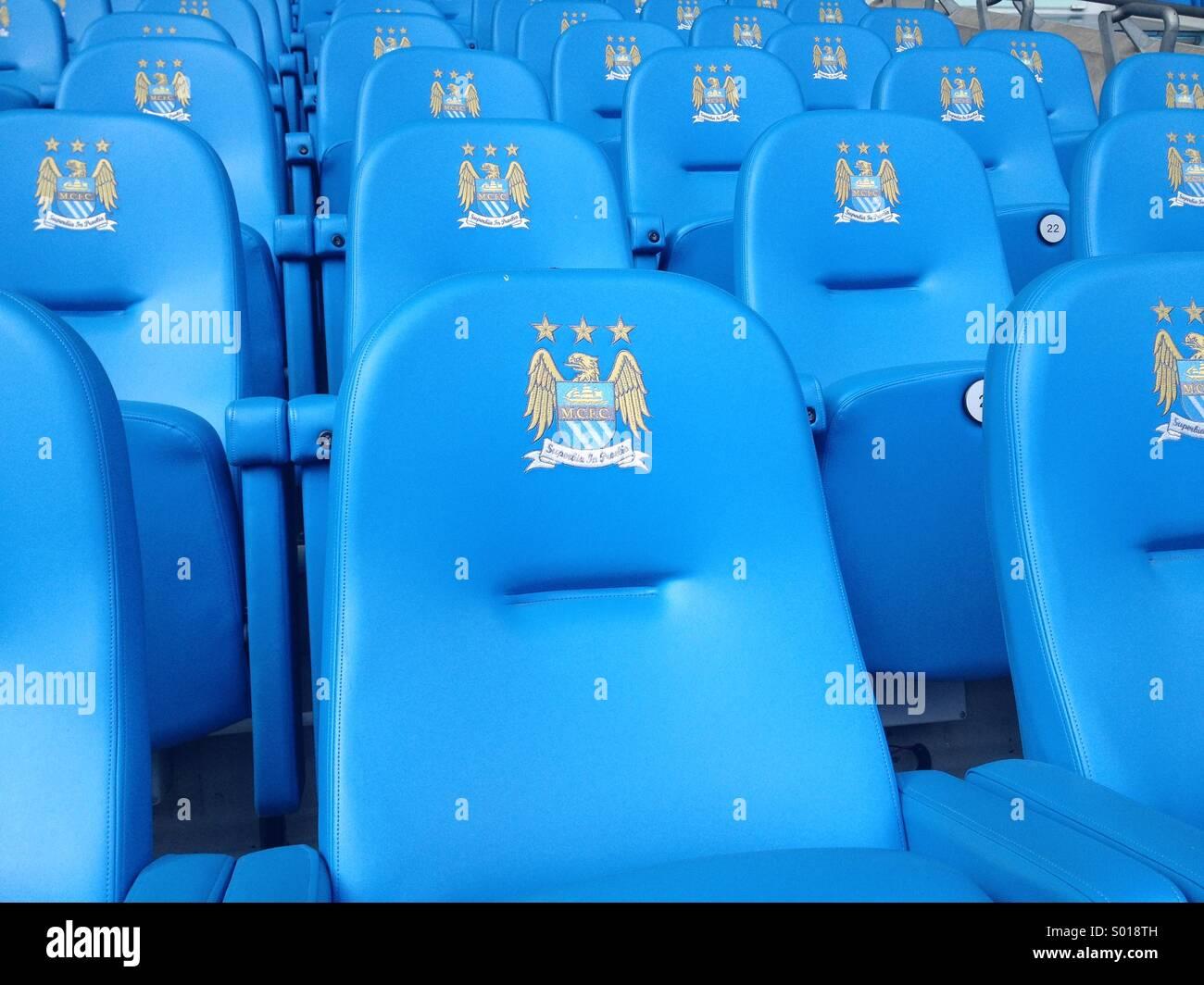 Etihad stadium seats - Stock Image