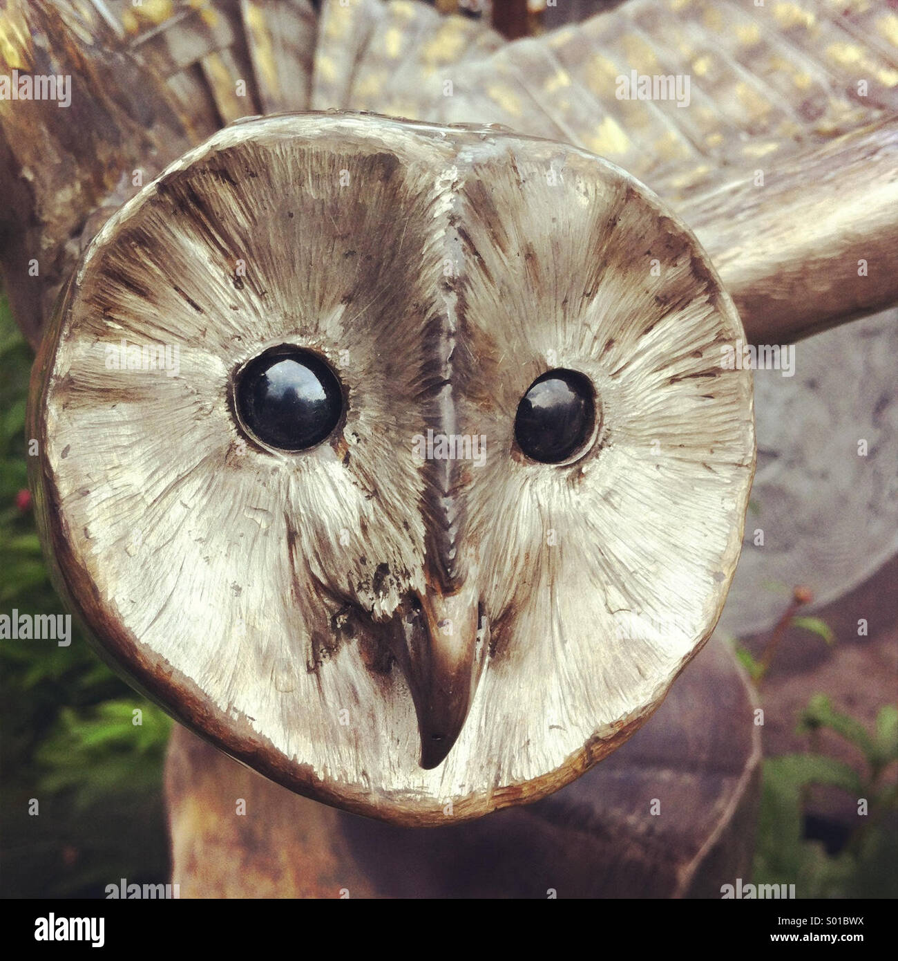 Sculpture of owl - Stock Image