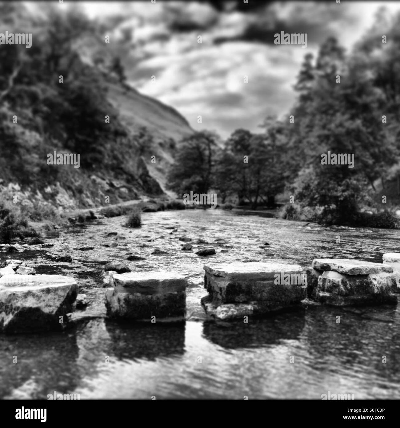 Stepping stones - Stock Image