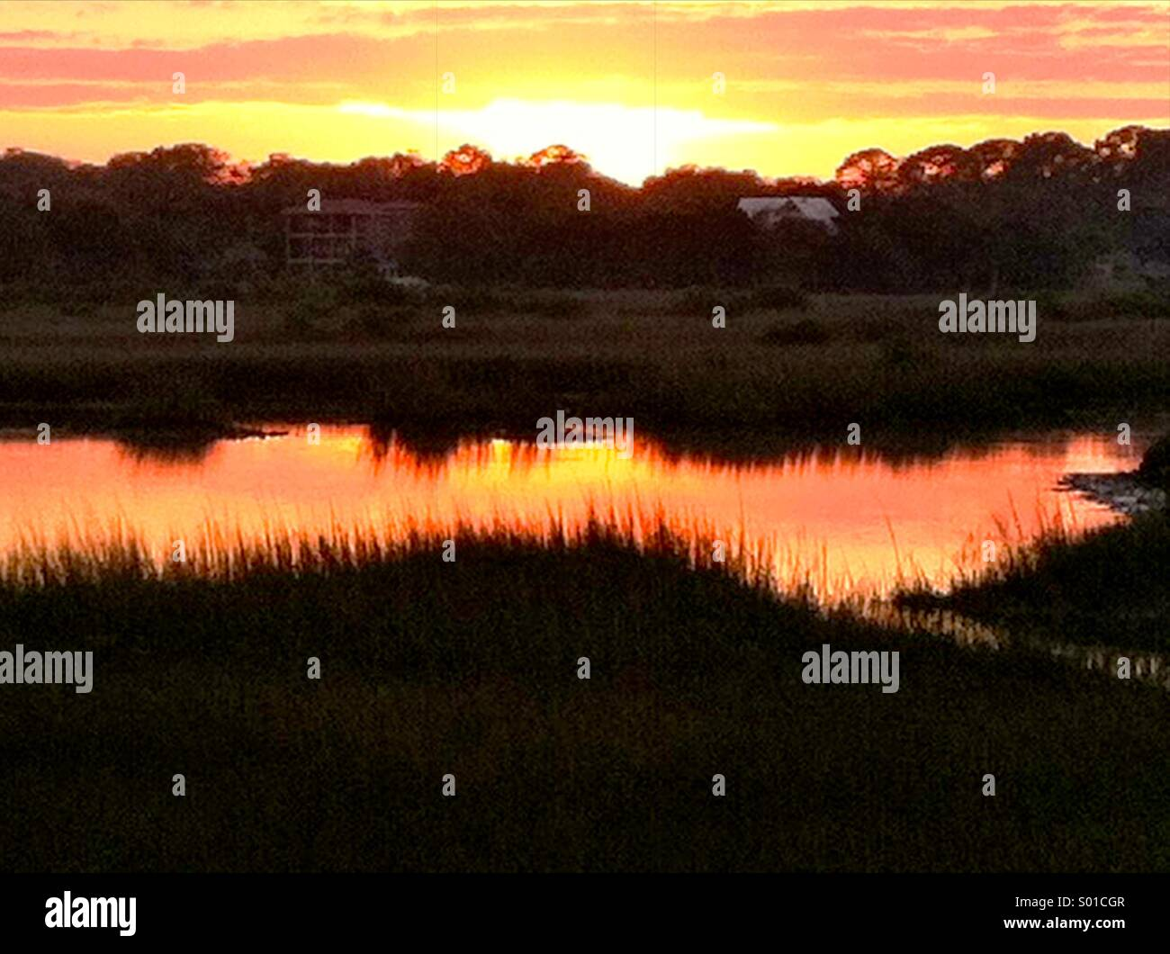 Sunset St Augustine FL - Stock Image