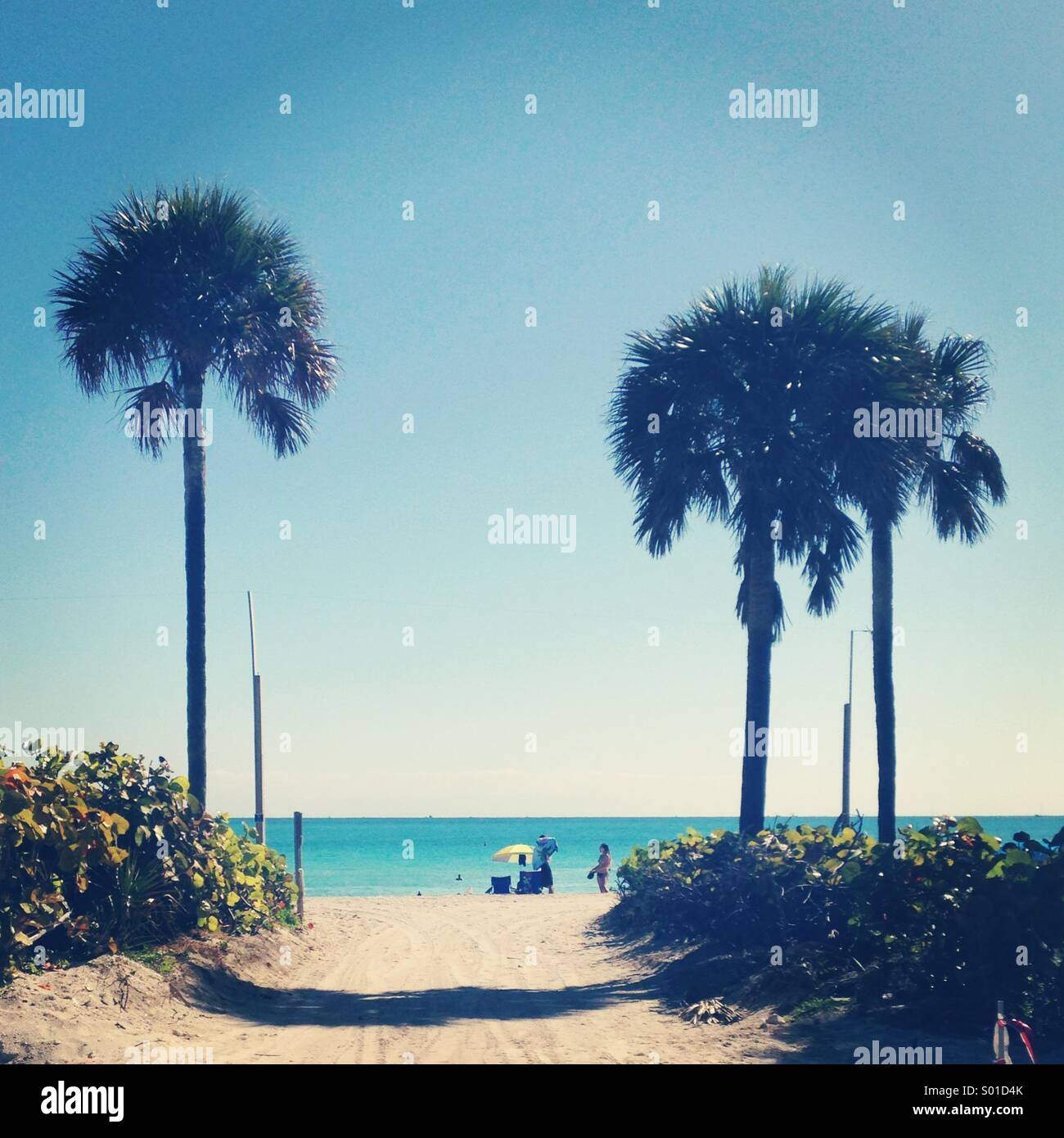 Miami beach - Stock Image
