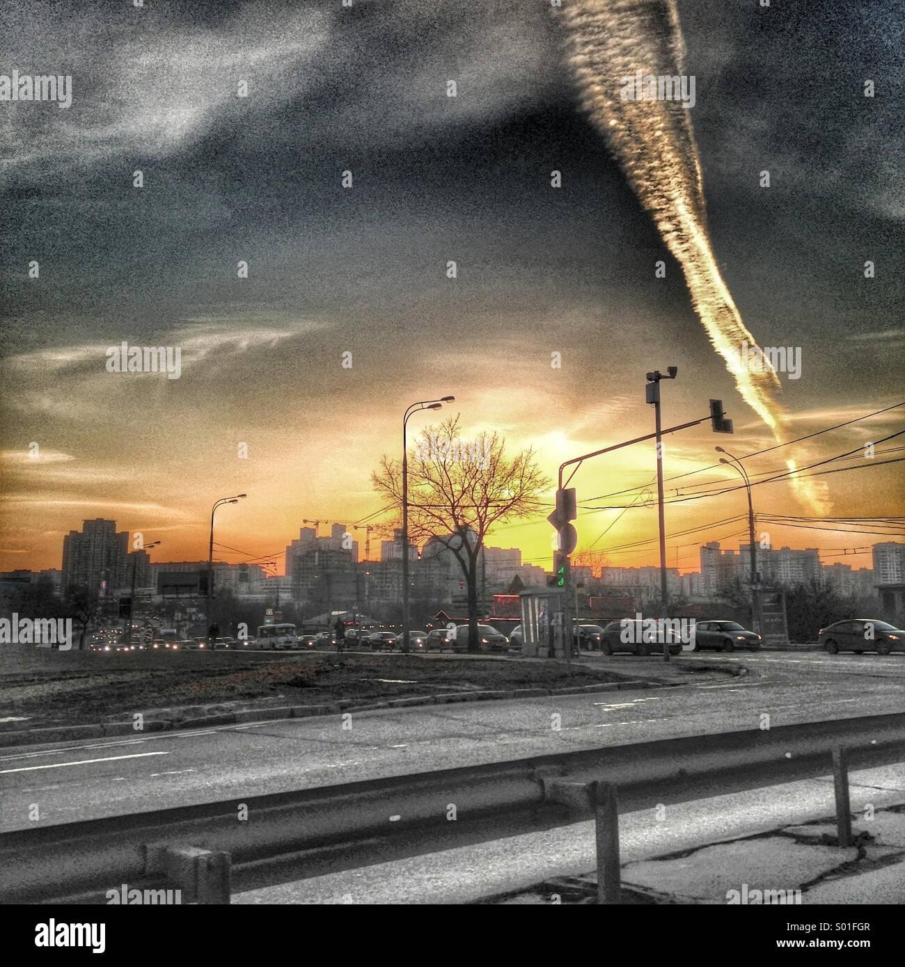 Post-apocalyptic urban landscape - Stock Image