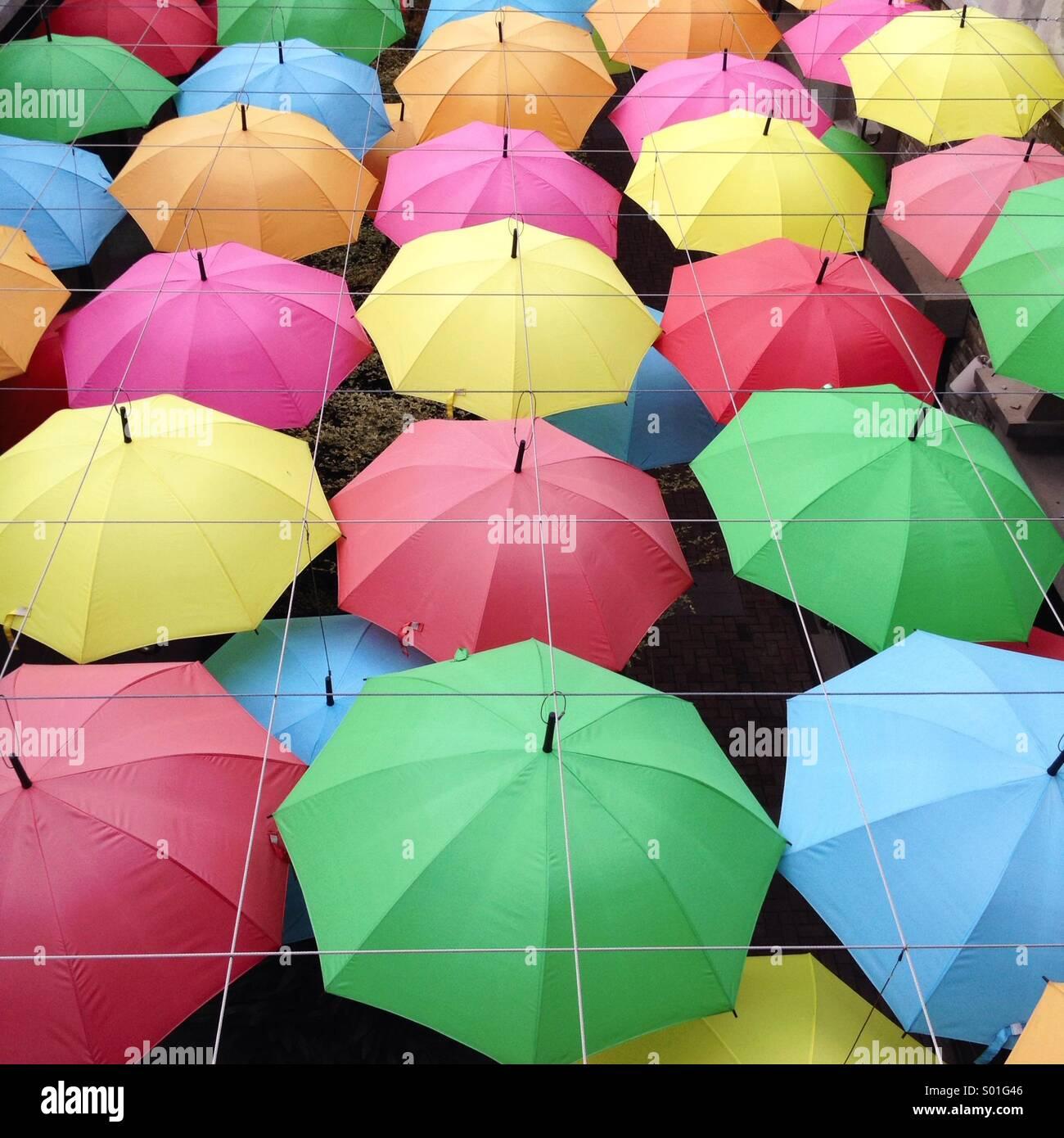 Colorful Umbrellas - Stock Image