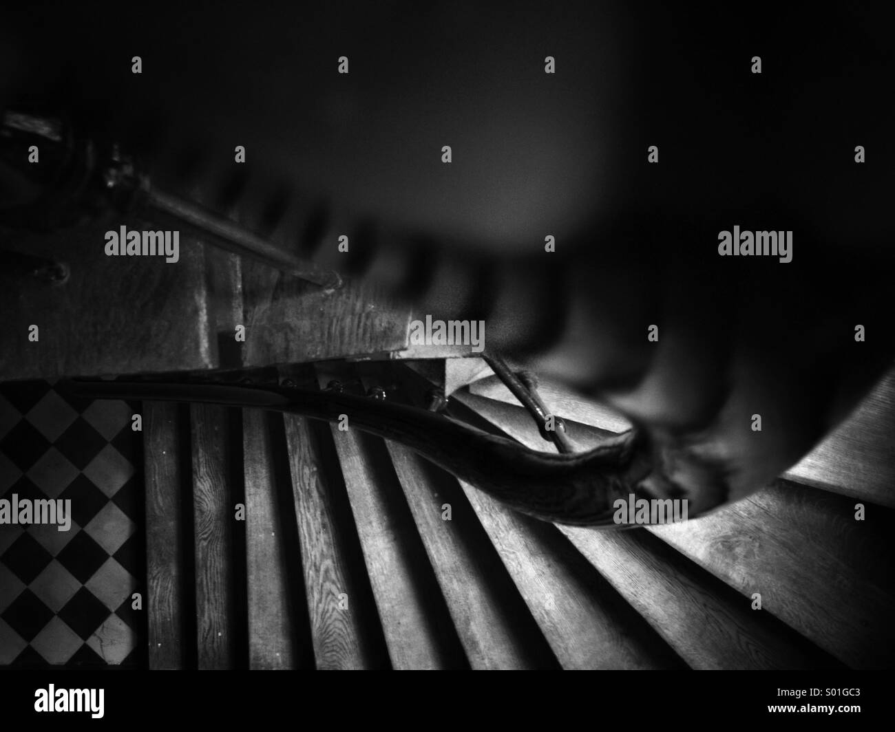 Staircase top view - Stock Image