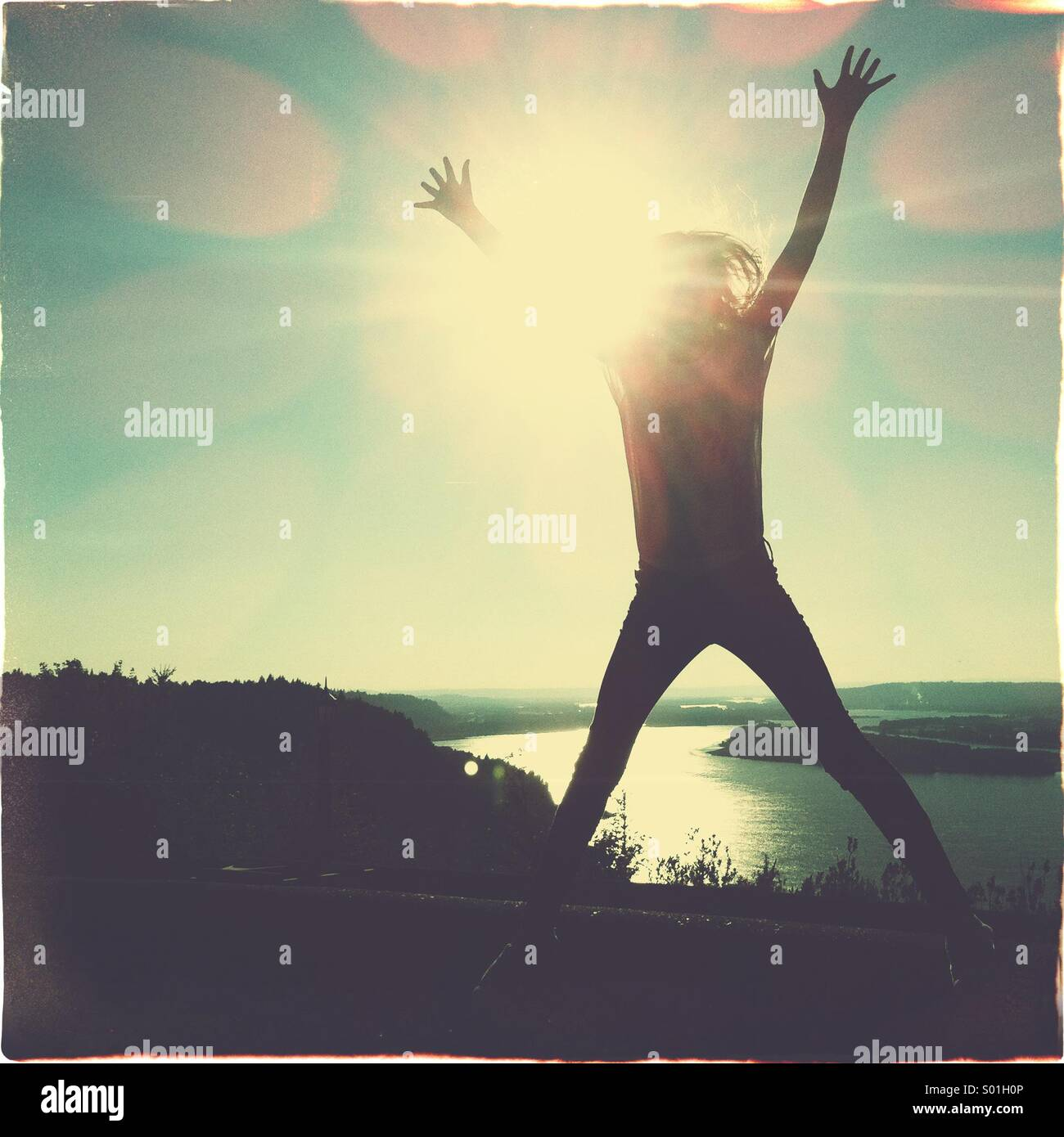 jump for joy - Stock Image