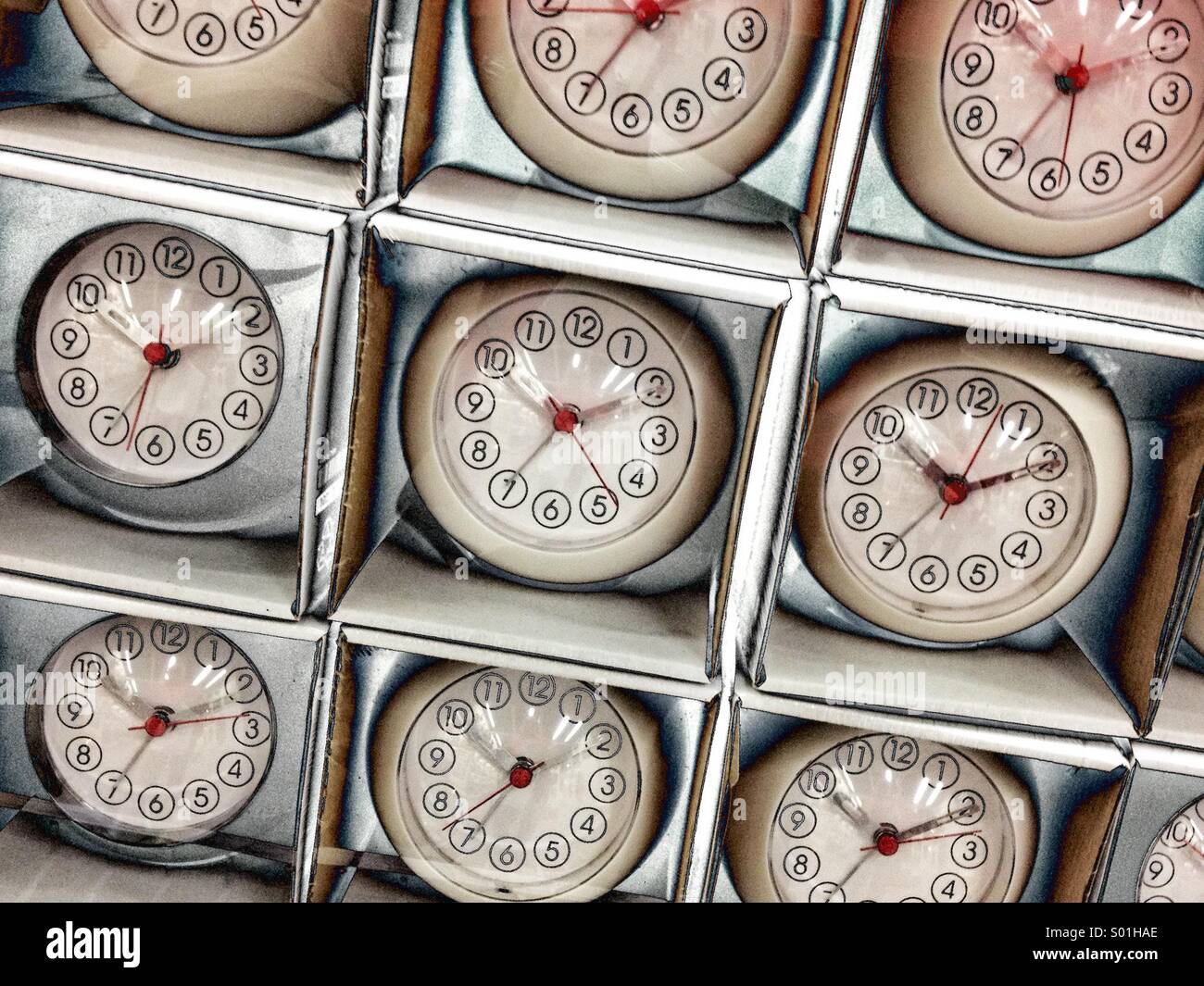 Clocks - Stock Image
