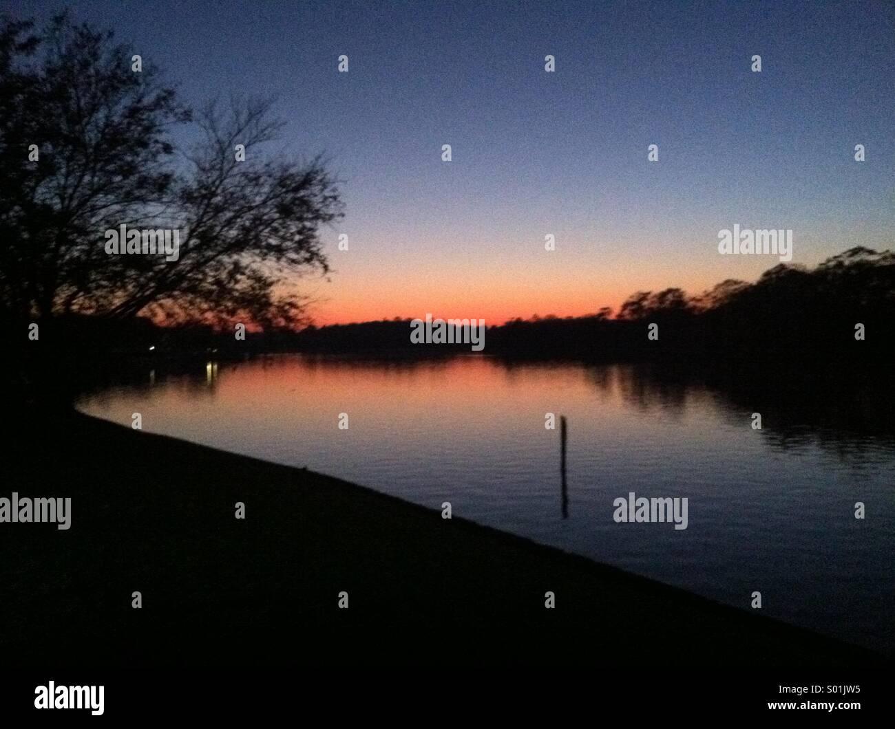 Sunset in Long Island, New York . - Stock Image