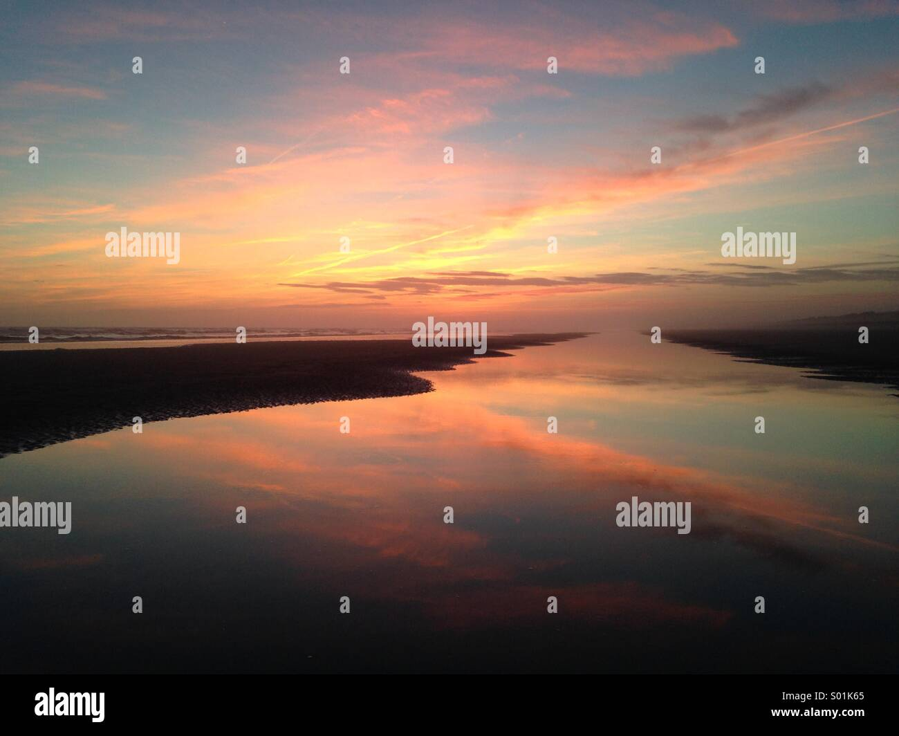 Kiawah Island Sunset - Stock Image
