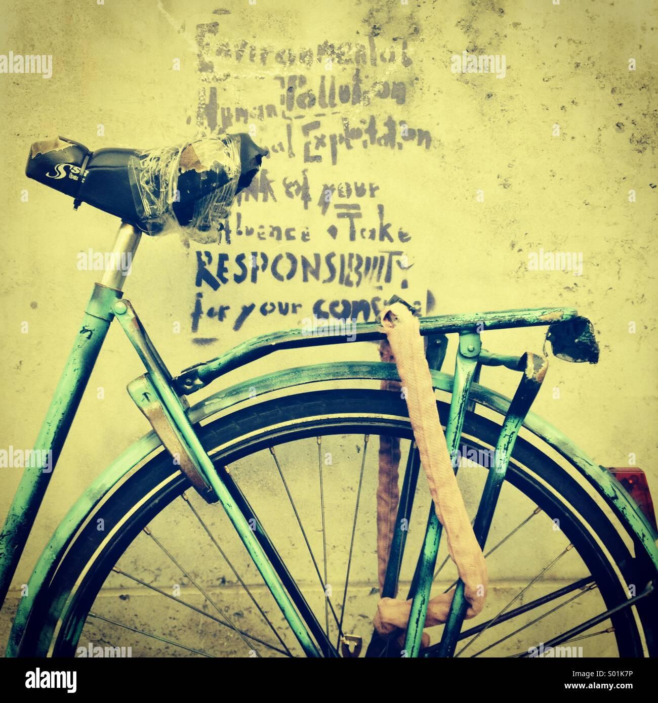 Amsterdam bicycle - Stock Image