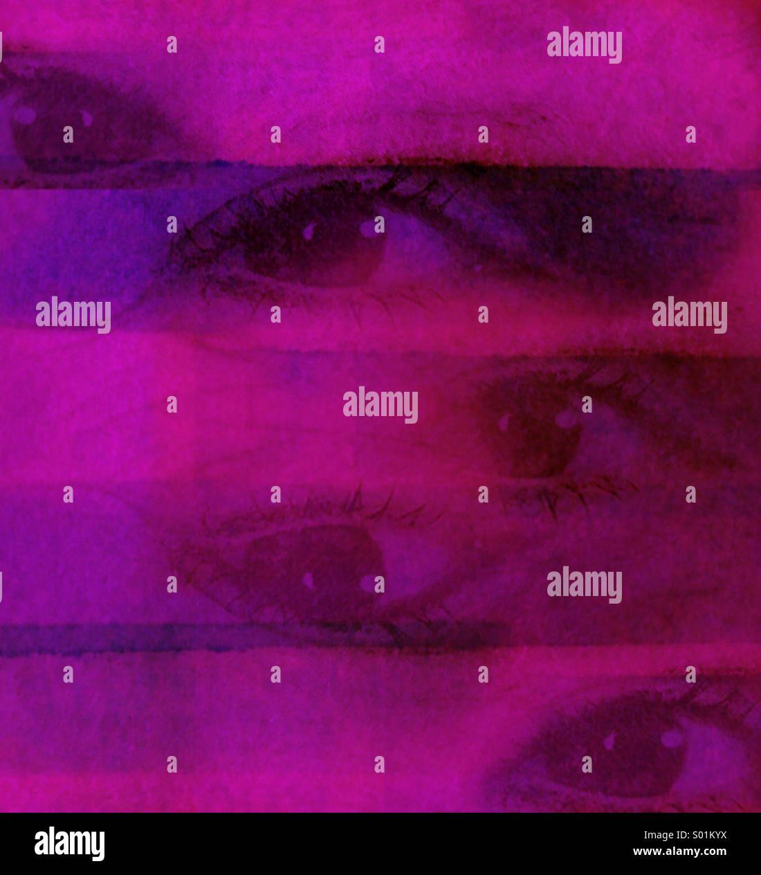 Pink eyes - Stock Image