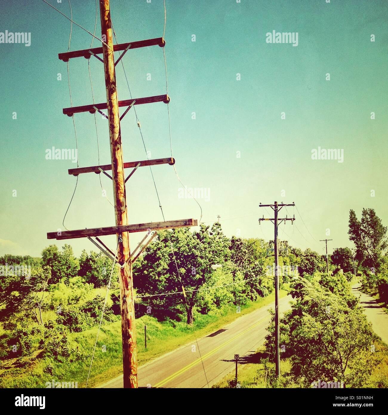 Poles. - Stock Image