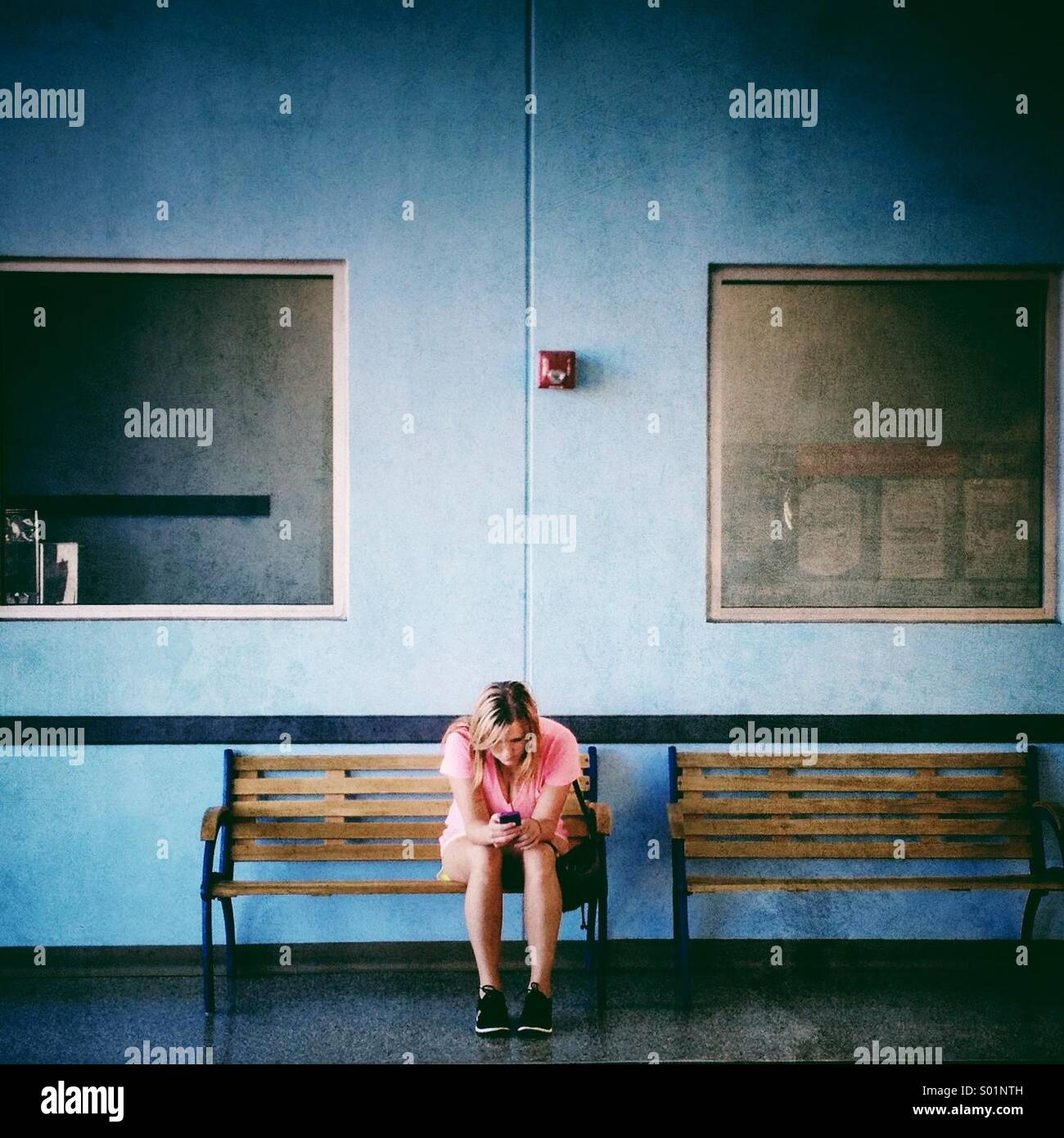 Waiting. - Stock Image