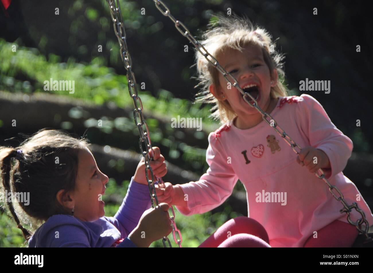 My new swing - Stock Image