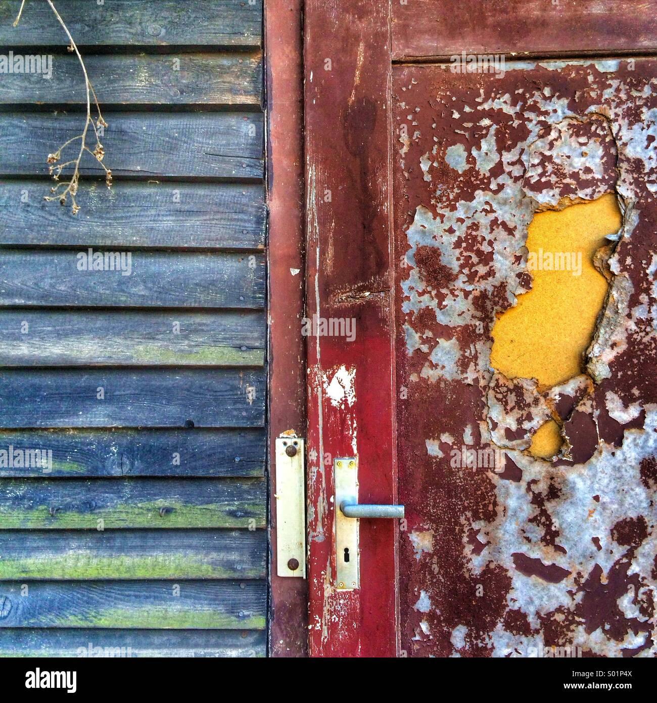 Shed door - Stock Image