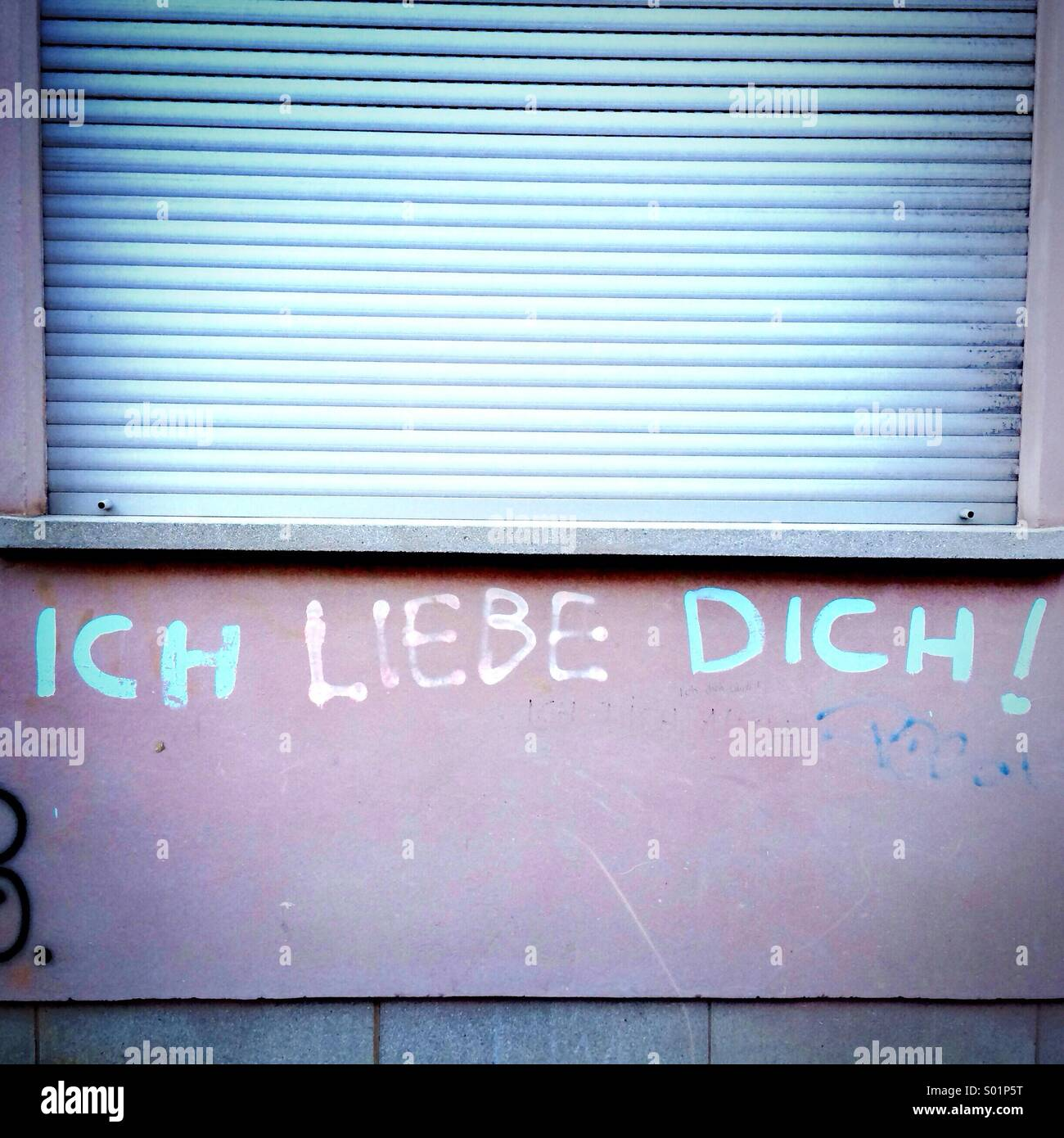 Ich liebe Dich I love you - Stock Image
