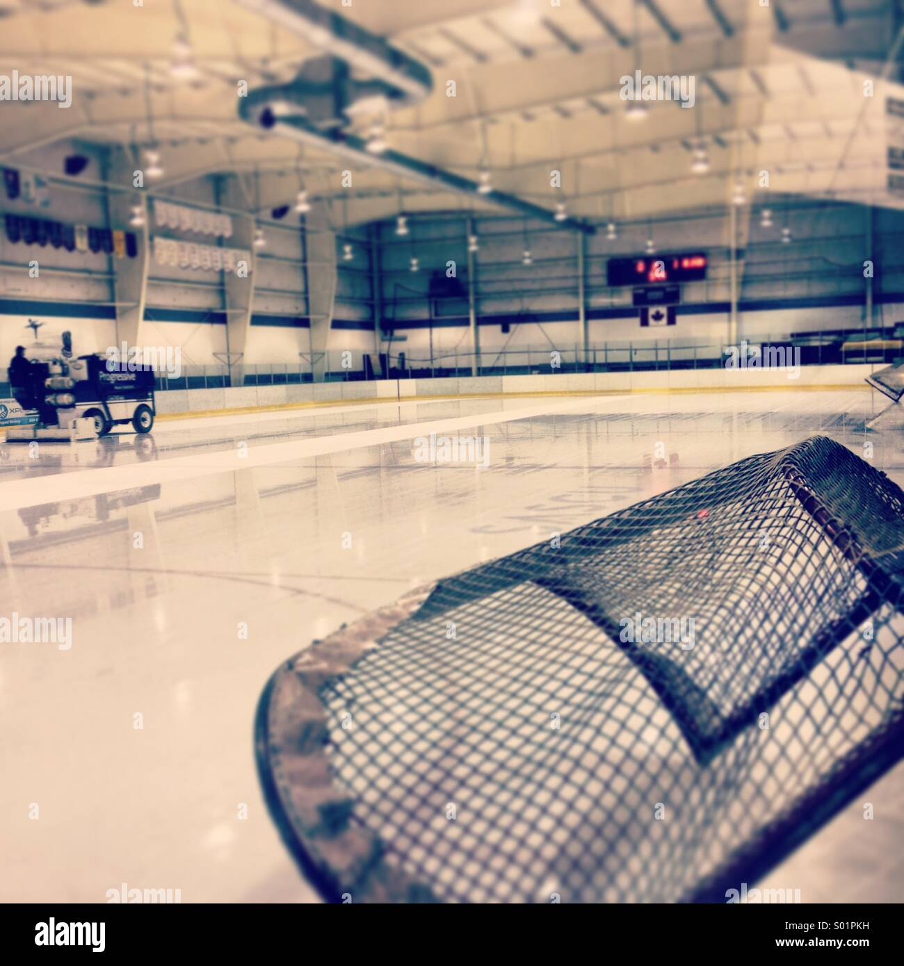 Ice clean at the hockey arena. - Stock Image