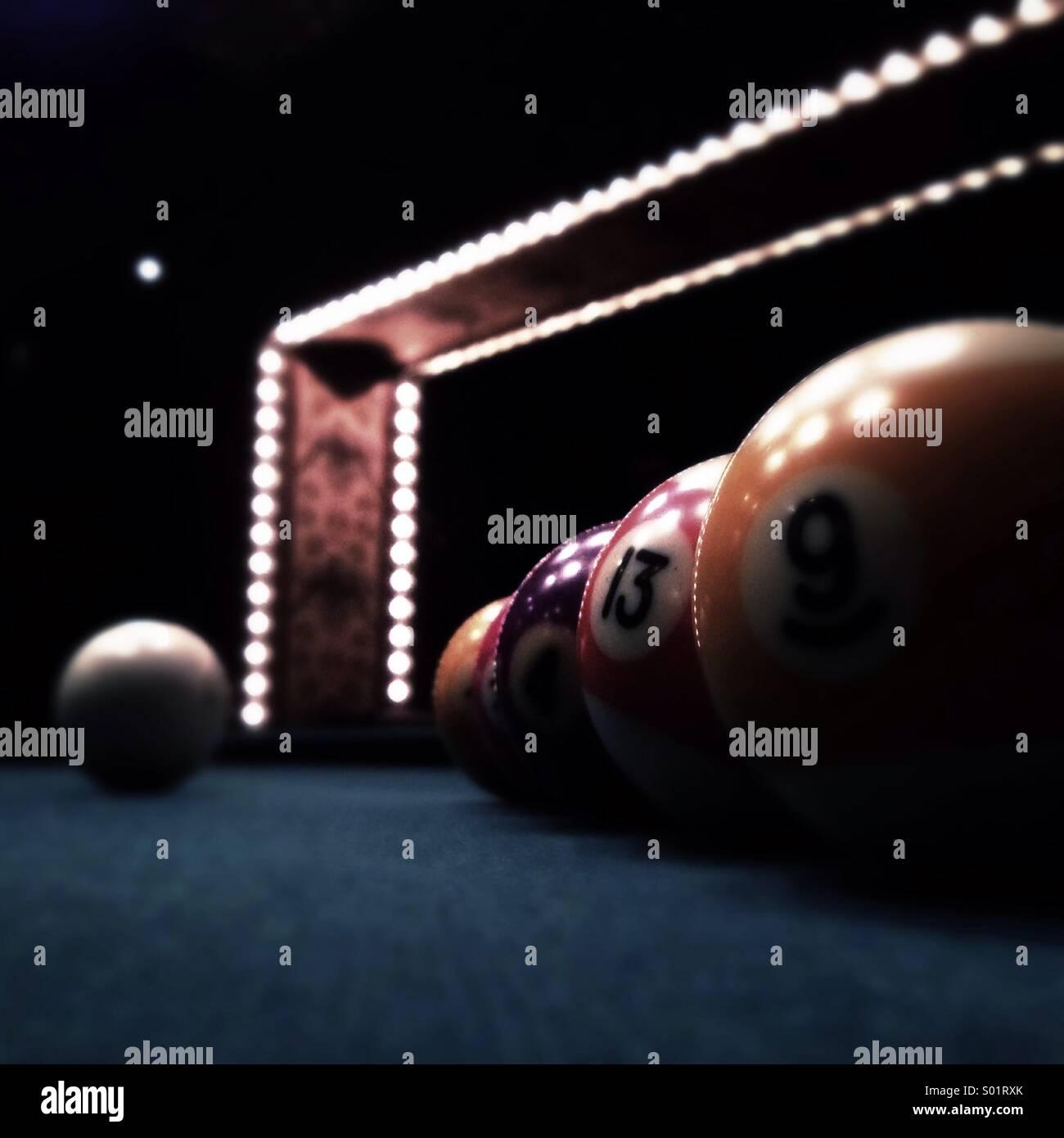 Billiard balls - Stock Image