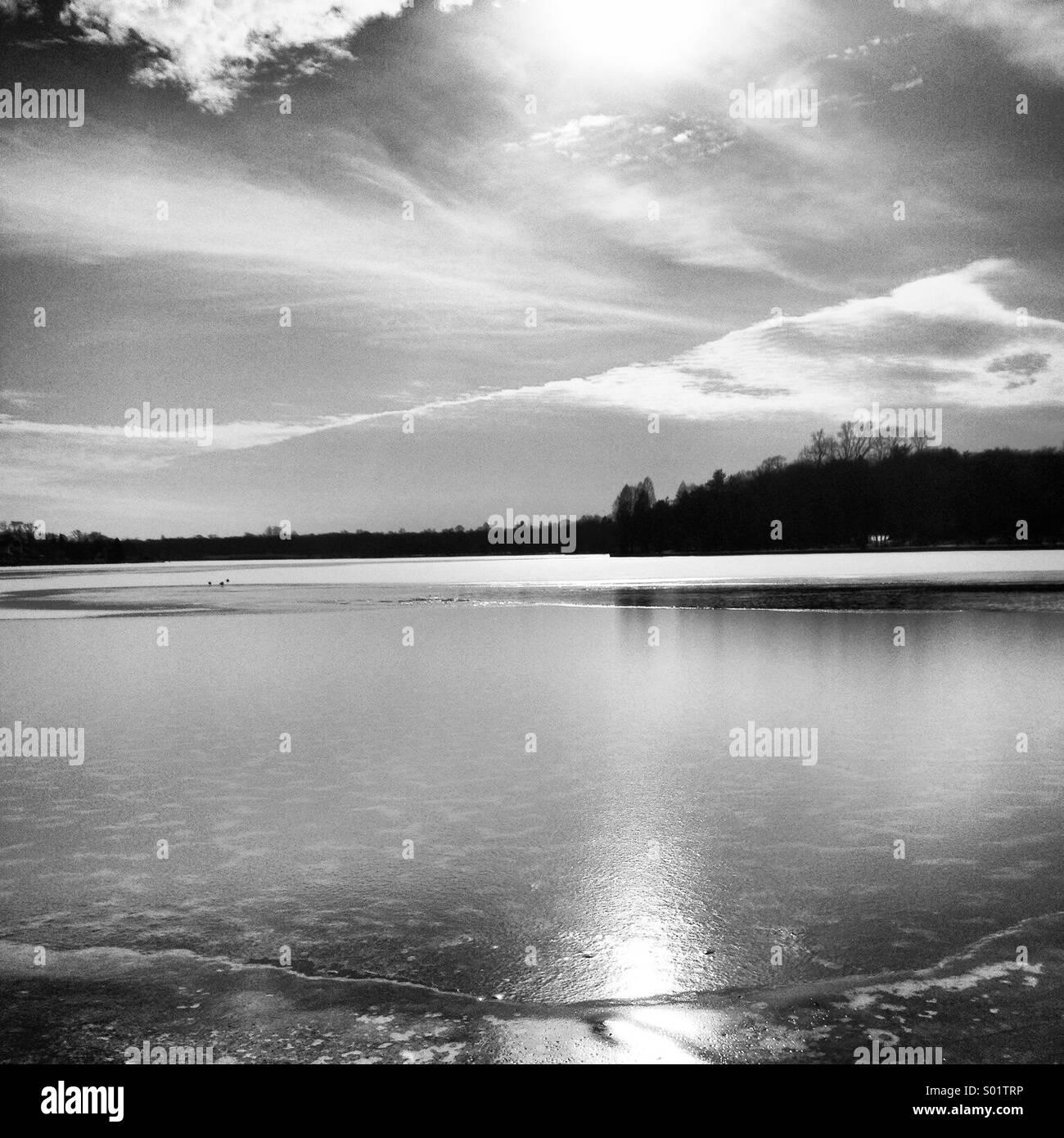 Winter water - Stock Image
