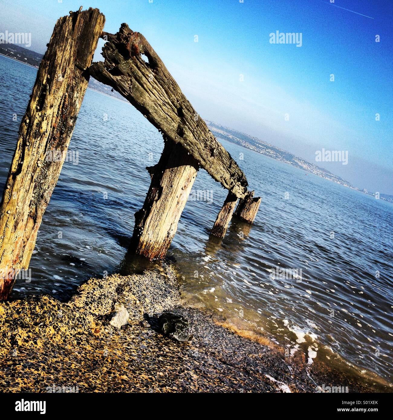 Sea. The Mumbles. - Stock Image