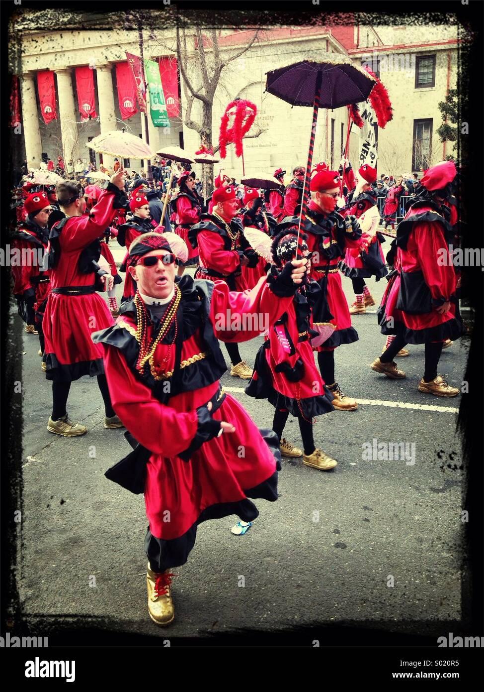 Philadelphia Mummers Parade 2014 - Stock Image