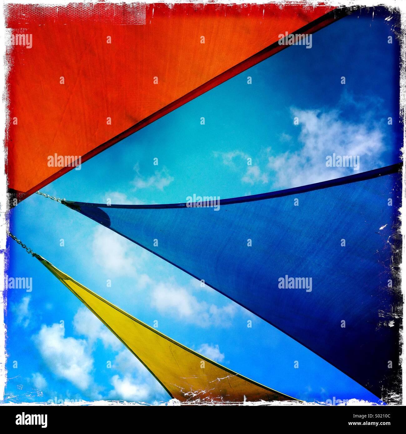 Sun sails - Stock Image