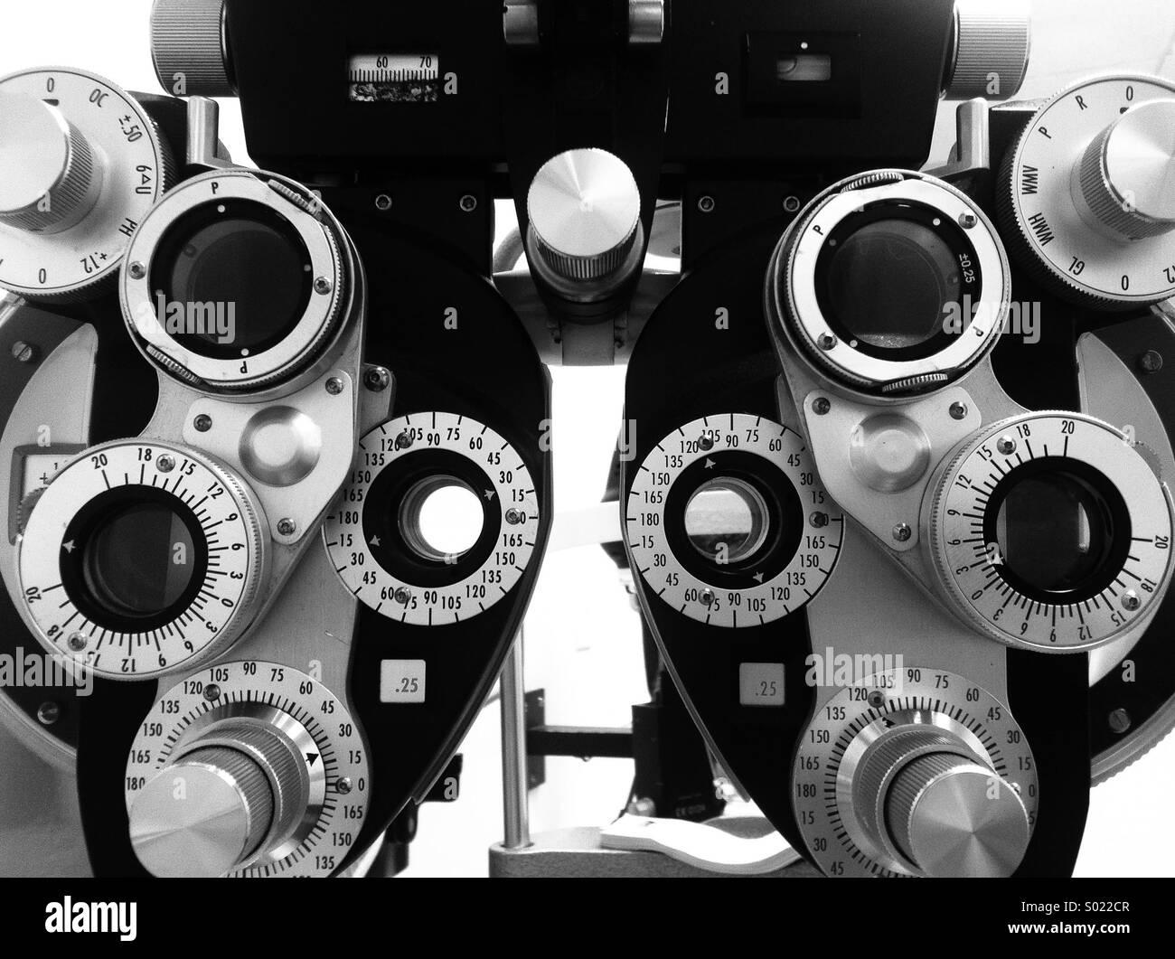 Eye Examination Black and White Stock Photos & Images - Alamy