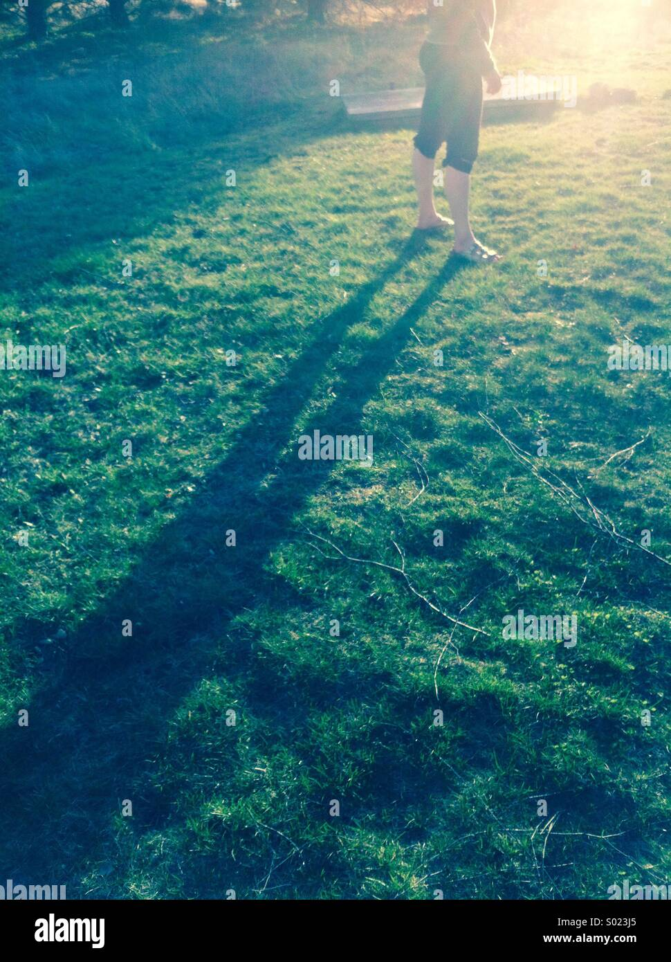 Legs with shadow - Stock Image