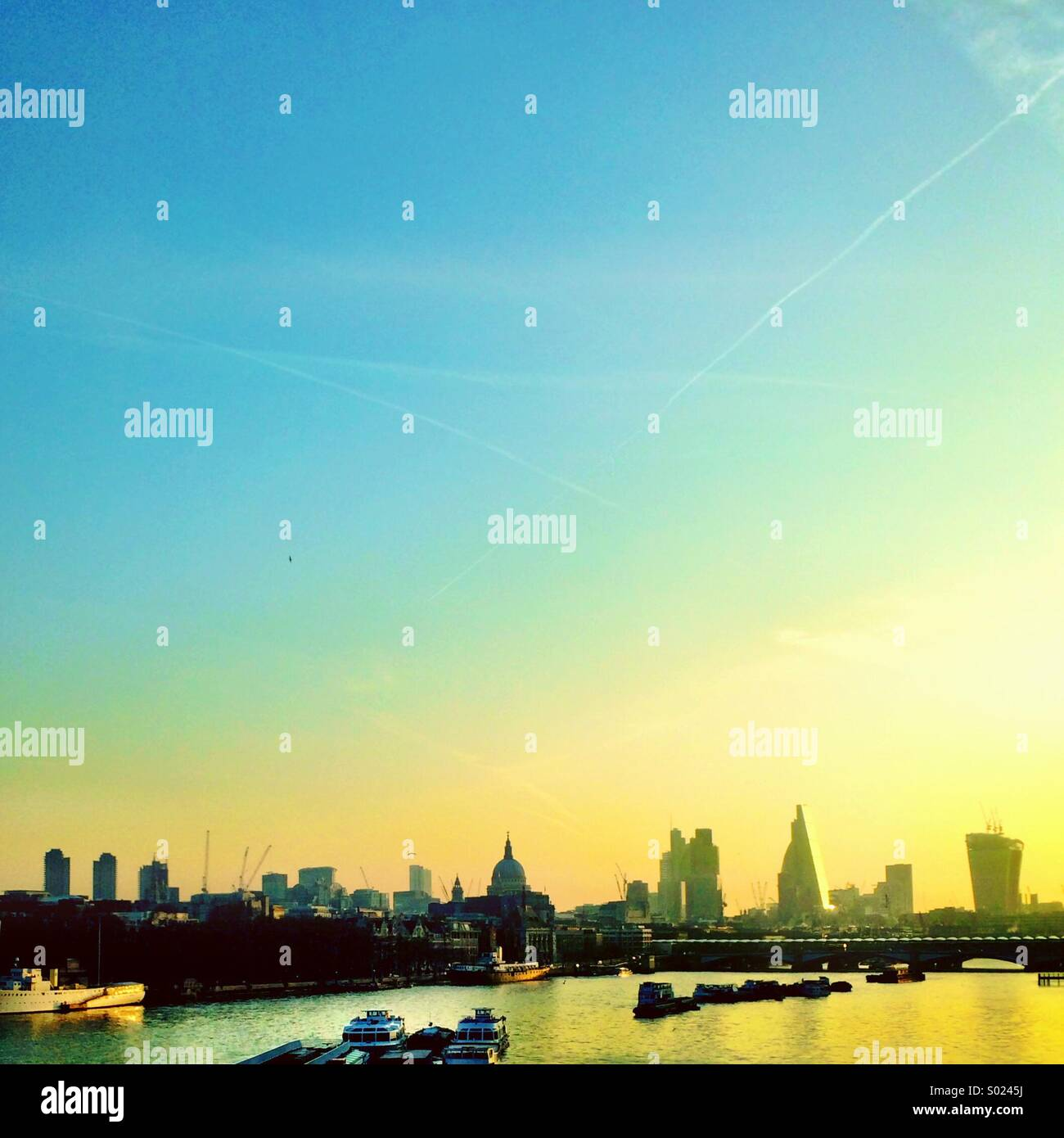 Waterloo sunrise London - Stock Image