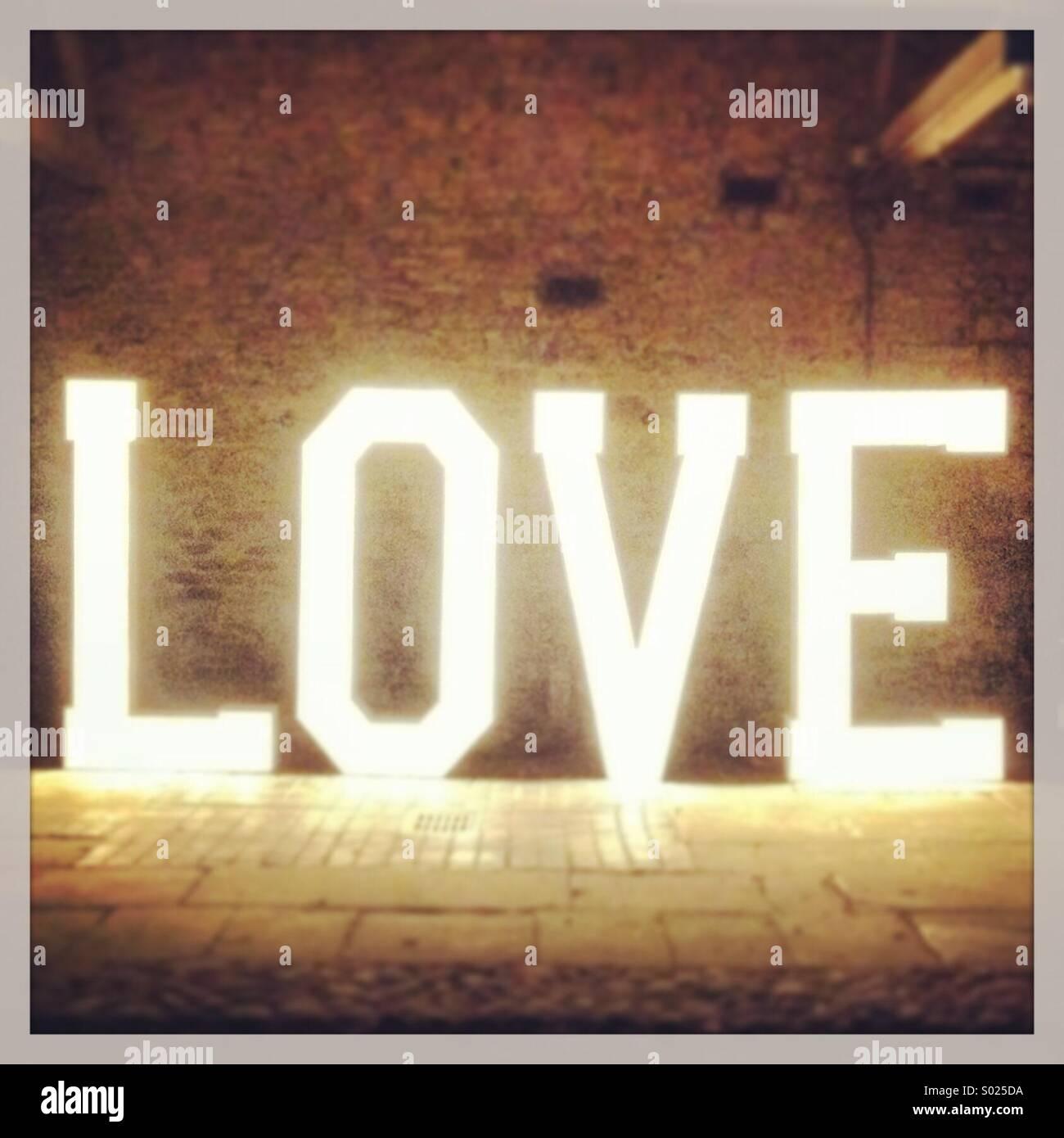 Big Love Word - Stock Image