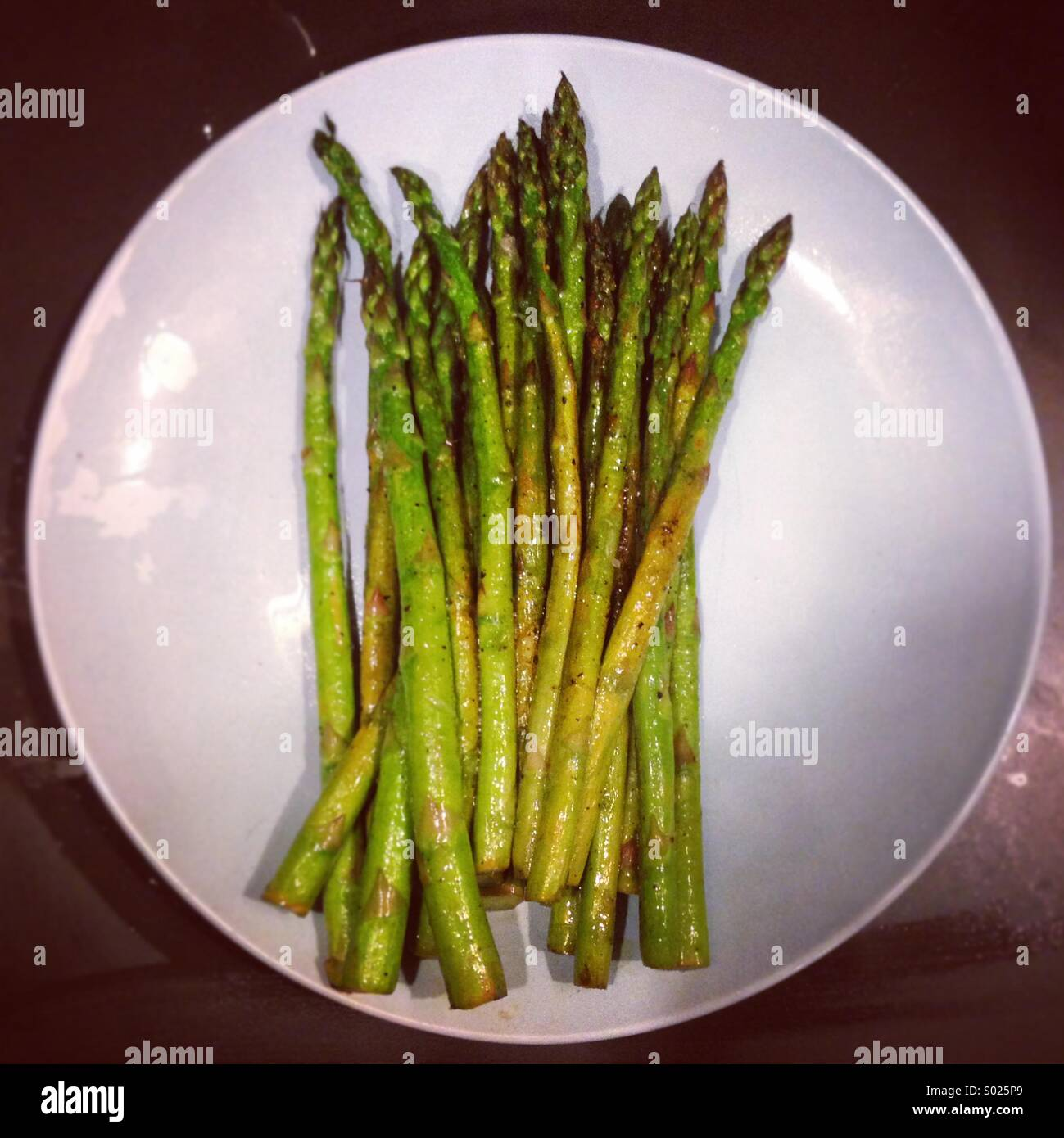 Grilled asparagus - Stock Image