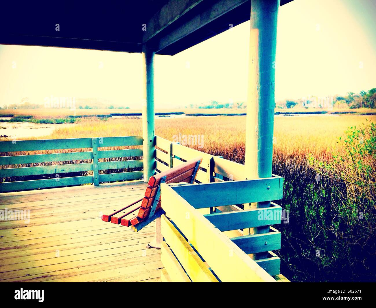Sunset Pier - Stock Image