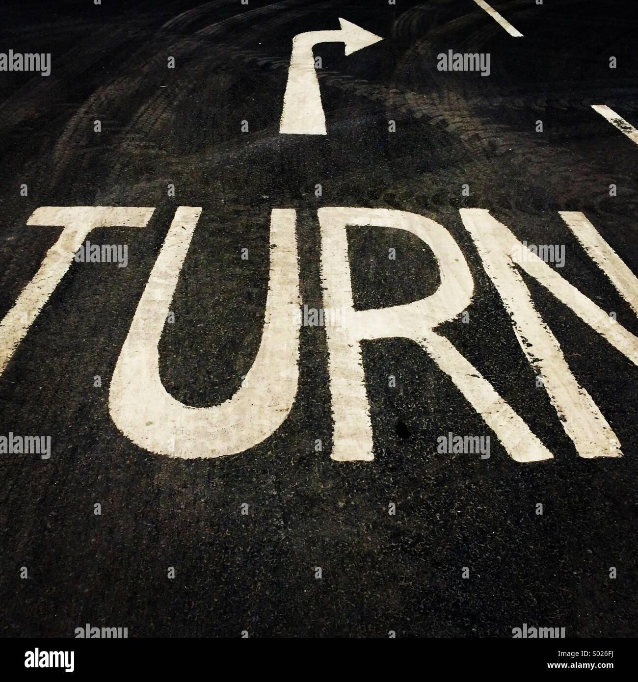 Turn. - Stock Image