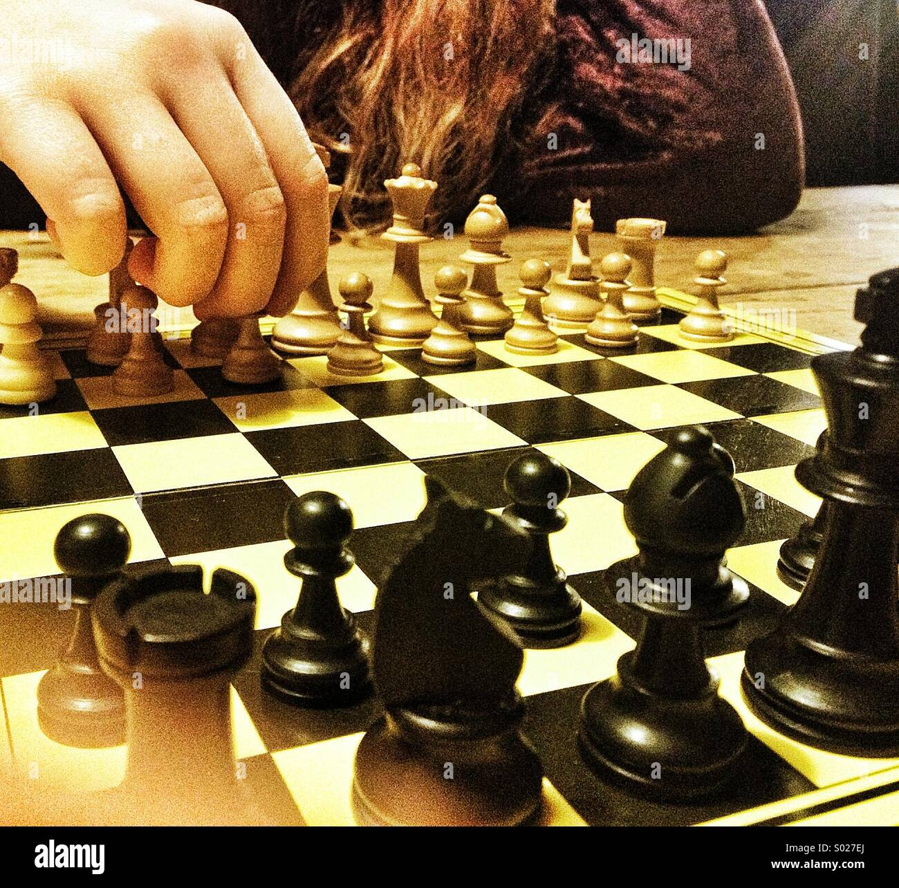 Playing chess - Stock Image