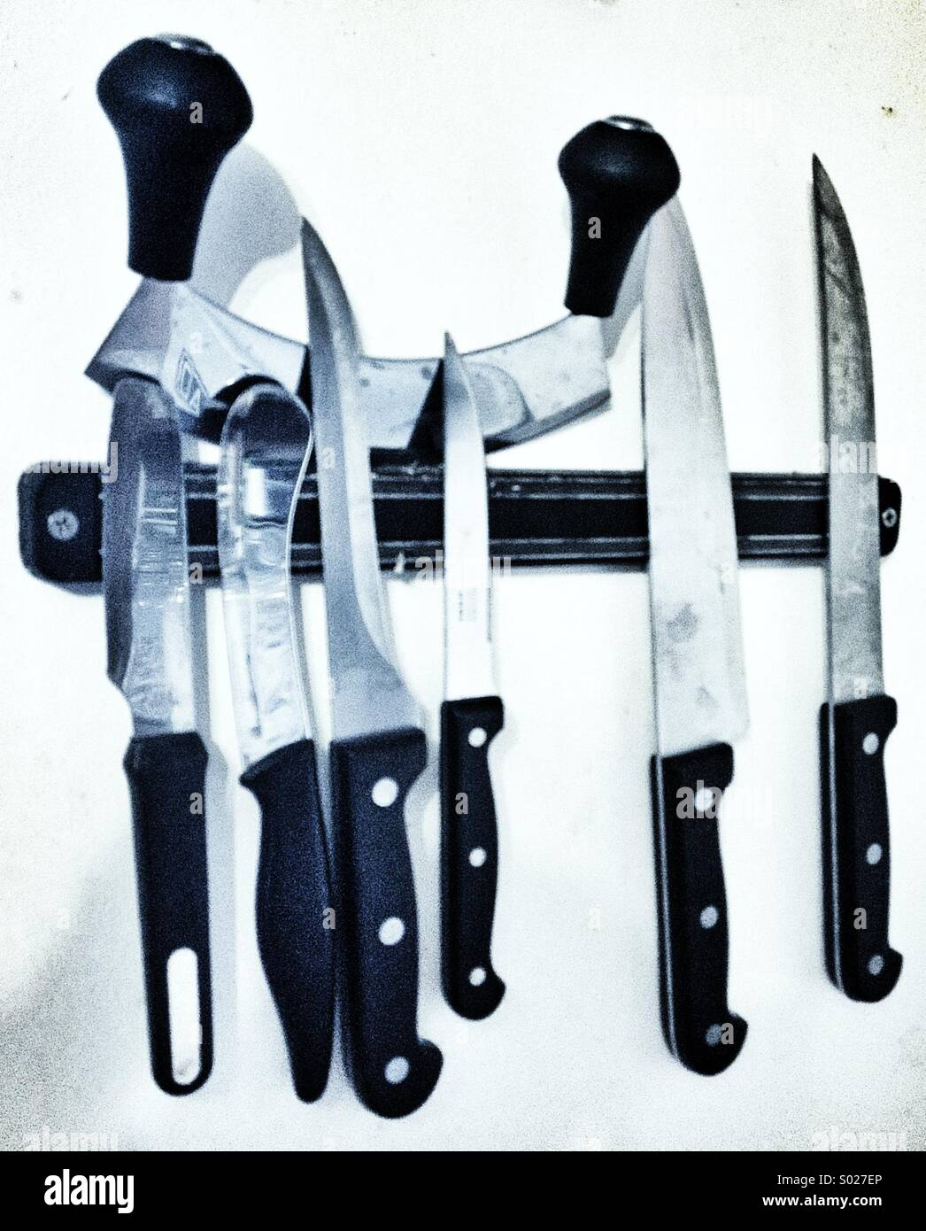 Kitchen knives - Stock Image